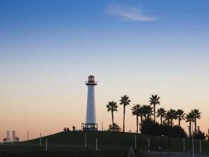 California, Long Beach, Shoreline Village Lighthouse, USA by Walter Bibikow