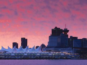 Canada, British Columbia, Vancouver, City View and Canada Place from Coal Harbour by Walter Bibikow