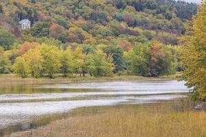 Canada, New Brunswick, Kennebecasis River Valley, Hampton. Autumn foliage. by Walter Bibikow