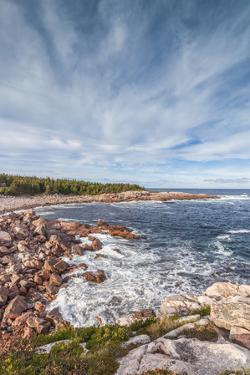 Canada, Nova Scotia, Cabot Trail. Cape Breton Highlands National Park, Green Cove. by Walter Bibikow