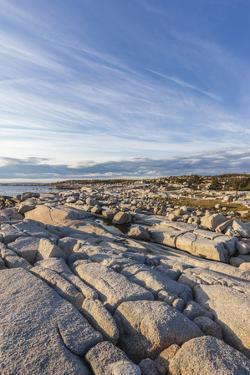 Canada, Nova Scotia, Peggy's Cove. Atlantic Coast and rocky coastline. by Walter Bibikow
