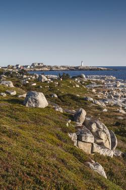 Canada, Nova Scotia, Peggy's Cove. Fishing village and lighthouse. by Walter Bibikow