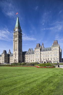 Canada, Ontario, Ottawa, Canadian Parliament Building by Walter Bibikow