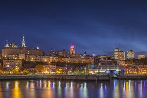 Canada, Quebec, Quebec City. Skyline from Bassin Louise by Walter Bibikow