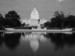 Capitol Building at Dusk, Washington DC, USA by Walter Bibikow
