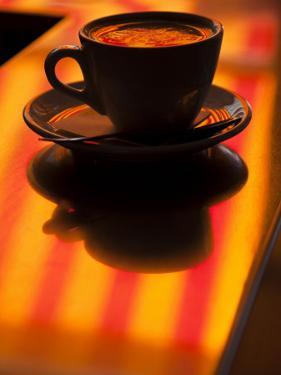 Cappuccino Reflection, Lugano, Ticino Canton, Switzerland by Walter Bibikow