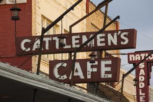 Cattlemen's Cafe Restaurant Sign, Oklahoma City, Oklahoma, USA by Walter Bibikow