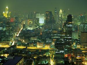 Central Bangkok Detail, Thailand by Walter Bibikow