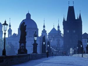 Charles Bridge, Prague, Czech Republic by Walter Bibikow