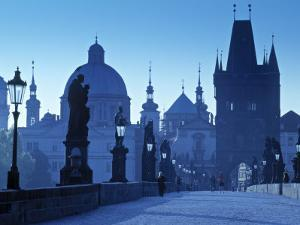 Charles Bridge, Prague, Czech Republic by Walter Bibikow