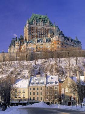 Chateau Frontenac Hotel, Quebec City, Quebec, Canada by Walter Bibikow
