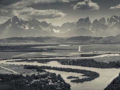 Chile, Magallanes Region, Torres Del Paine National Park, Landscape from Villa Serrano by Walter Bibikow