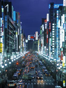Chuo-Dori Avenue, Ginza, Tokyo, Japan by Walter Bibikow