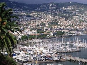 City and Marina, Funchal, Madeira, Portugal by Walter Bibikow