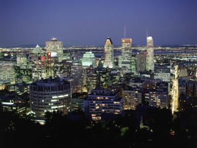 City Skyline, Montreal, Quebec, Canada by Walter Bibikow