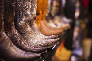 Cowboy Boots, Kemo Sabe Shop, Aspen, Colorado, USA by Walter Bibikow