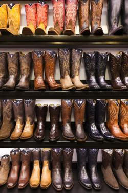 Cowboy Boots, Kemo Sabe Shop, Aspen, Colorado, USA by Walter Bibikow