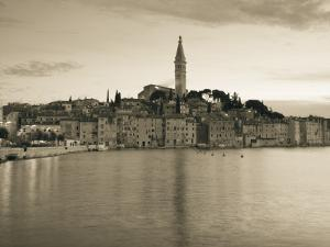 Croatia, Istria, Rovinj, Rovinj Town View with the Cathedral of St. Euphemia by Walter Bibikow
