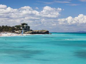 Cuba, Matanzas Province, Varadero, Varadero Beach by the Mansion Xanadu by Walter Bibikow