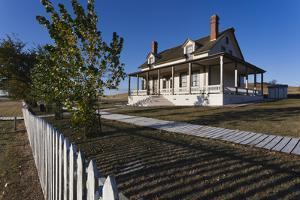 Custer House, Fort Abraham Lincoln Sp, Mandan, North Dakota, USA by Walter Bibikow