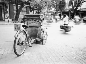 Cyclo in Old Hanoi, Vietnam by Walter Bibikow
