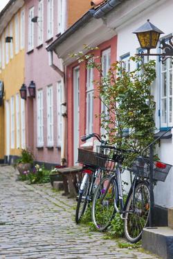 Denmark, Jutland, Aalborg, Houses Along Hjelmerstald Street by Walter Bibikow