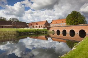 Denmark, Jutland, Auning, Gammel Estrup Manor House, Manor Buildings by Walter Bibikow