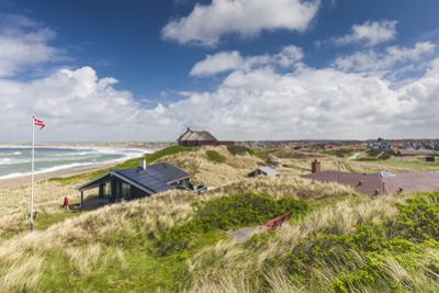 Denmark, Jutland, Klitmoller, Windsurfing Capital of Denmark, Houses in Dunes by Walter Bibikow