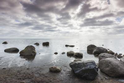 Denmark, Mon, Mons Klimt, 130 Meter-High Chalk Cliffs from the Shore by Walter Bibikow
