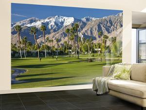 Desert Princess Golf Course and Mountains, Palm Springs, California, USA by Walter Bibikow