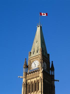 Detail of the Peace Tower, Ottawa, Ontario, Canada by Walter Bibikow