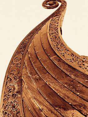 Detail on Viking Boat at Museum, Oslo, Norway by Walter Bibikow