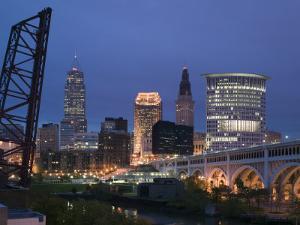 Detroit Avenue Bridge, Cleveland, Ohio, USA by Walter Bibikow
