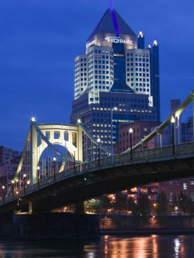 Downtown View from Allegheny Landing by 6th Street Bridge, Pittsburgh, Pennsylvania by Walter Bibikow