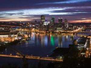 Downtown View from West End Overlook, Pittsburgh, Pennsylvania by Walter Bibikow