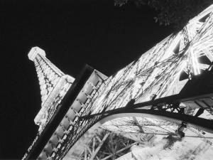 Eiffel Tower and Paris Casino at Night, Las Vegas, Nevada, USA by Walter Bibikow