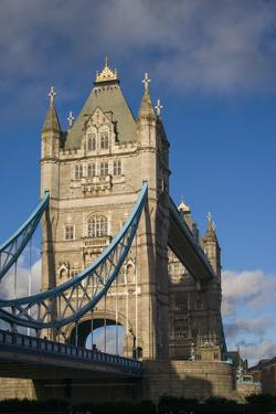 England, London, Tower Bridge, Late Afternoon by Walter Bibikow