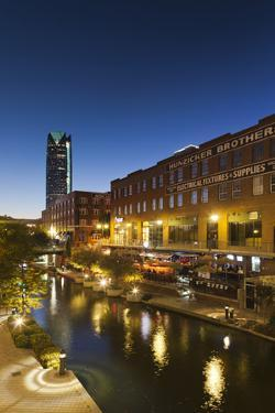 Entertainment District, Bricktown, Oklahoma City, Oklahoma, USA by Walter Bibikow