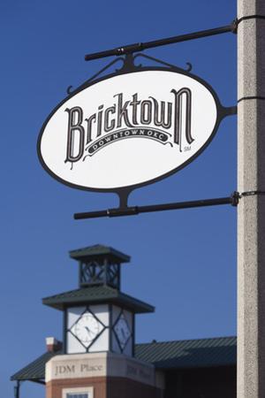Entertainment District Sign, Bricktown, Oklahoma City, Oklahoma, USA