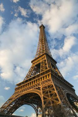 Europe, France, Paris, Eiffel Tower Area: Winter View of the Eiffel Tower by Walter Bibikow