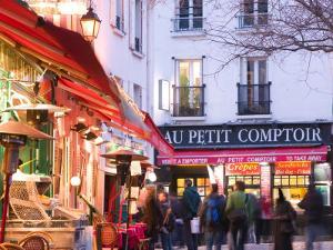 Evening Detail, Place du Tertre, Montmartre, Paris, France by Walter Bibikow