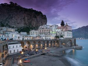 Evening Town View, Atrani, Campania, Italy by Walter Bibikow