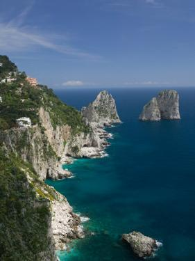 Faraglioni Rocks, Capri, Bay of Naples, Campania, Italy by Walter Bibikow