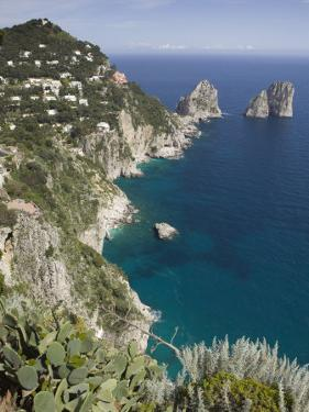 Faraglioni Rocks, Capri, Campania, Italy by Walter Bibikow