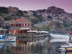 Fishing Port, Lesvos, Mithymna, Northeastern Aegean Islands, Greece by Walter Bibikow