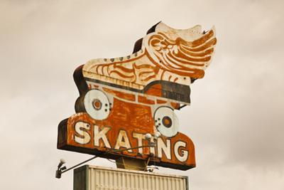 Flying Skate Sign, Sapulpa, Oklahoma, USA by Walter Bibikow