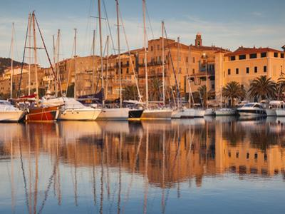 France, Corsica, Corse-Du-Sud Department, Propriano, Town Marina, Sunset by Walter Bibikow