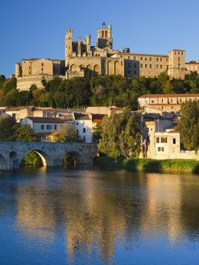 France, Languedoc-Roussillon, Herault Department, Beziers, Cathedrale St-Nazaire Cathedral and the  by Walter Bibikow