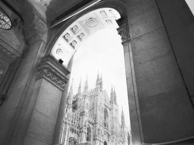 Galleria View of the Duomo, Milano, Italy by Walter Bibikow
