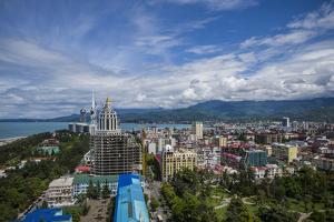 Georgia, Batumi. City skyline. by Walter Bibikow